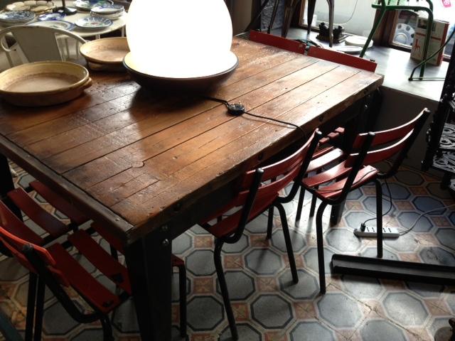 Tavolo industriale in legno e ferro ebay - Tavolo legno e ferro ...